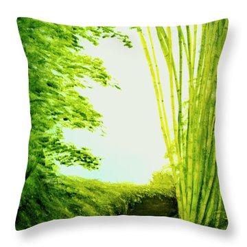 Whisper #09 Throw Pillow by Donald k Hall