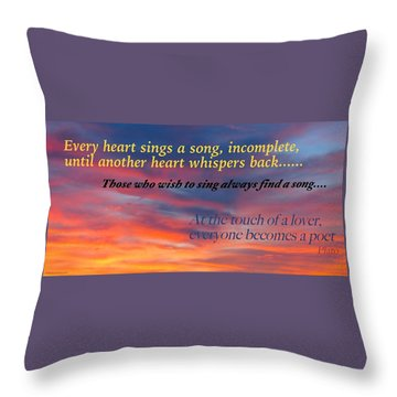Whisper Throw Pillow by David Norman