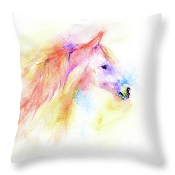 Throw Pillow featuring the painting Whisper by Elizabeth Lock