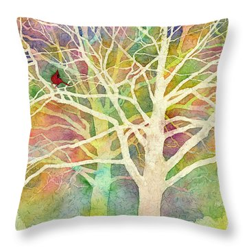 Whisper Throw Pillow by Hailey E Herrera