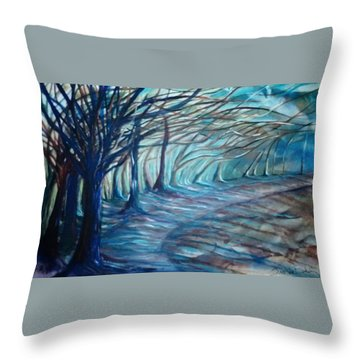 Whisper Throw Pillow by Jan VonBokel