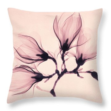 Whisper Magnolia Throw Pillow