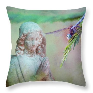 Throw Pillow featuring the photograph Whisper Of Angel Wings by Bonnie Barry