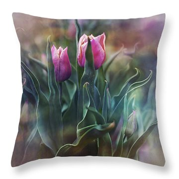 Whisper Of Spring Throw Pillow by Agnieszka Mlicka