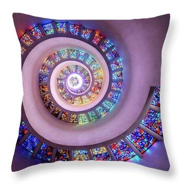 Whispered Prayers Ascending  Throw Pillow