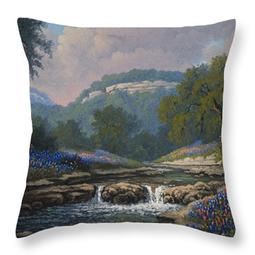 Throw Pillow featuring the painting Whispering Creek by Kyle Wood