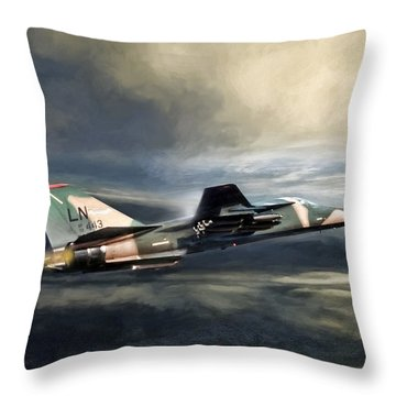 Whispering Death F-111 Throw Pillow