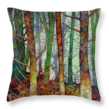 Whispering Forest Throw Pillow