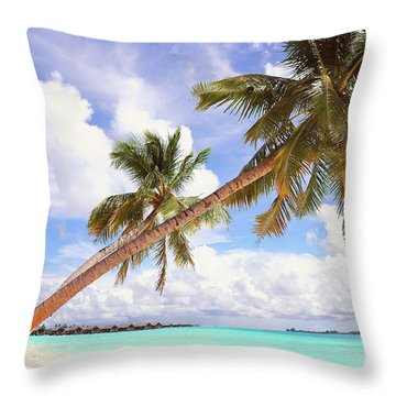 Whispering Palms. Maldives Throw Pillow