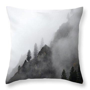 Whispering Peaks Throw Pillow