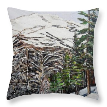 Whispering Pines Throw Pillow by Marilyn  McNish