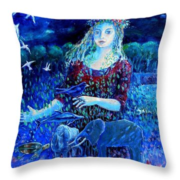 Whispers From The Future  Throw Pillow