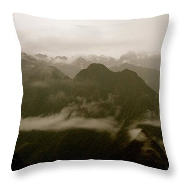 Whispers In The Andes Mountains Throw Pillow