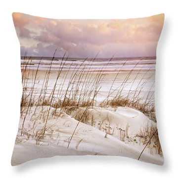 Throw Pillow featuring the photograph Whispers In The Dunes by Debra and Dave Vanderlaan