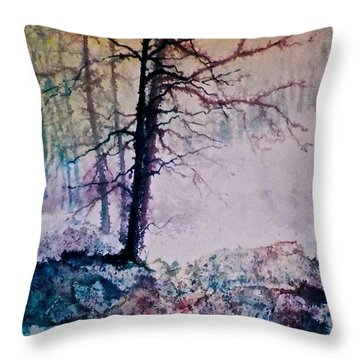 Throw Pillow featuring the painting Whispers In The Fog by Carolyn Rosenberger