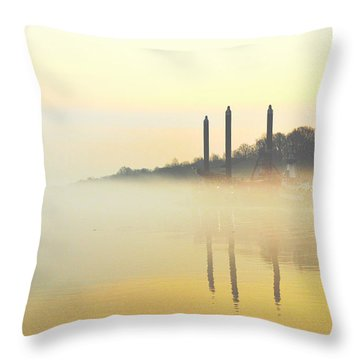 Whispers In The Wind - Contemporary Art Throw Pillow