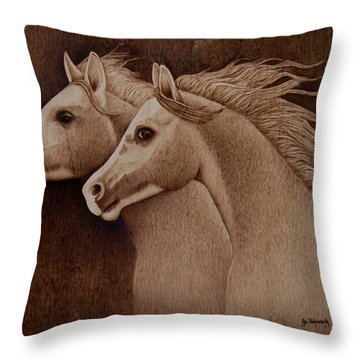 Whispers Throw Pillow by Jo Schwartz