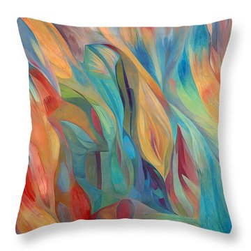 Throw Pillow featuring the painting Whispers Of Immortality 1 by Linda Cull