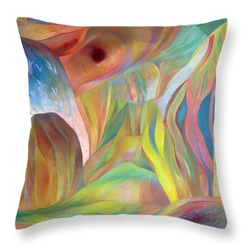 Throw Pillow featuring the painting Whispers Of Immortality 2 by Linda Cull