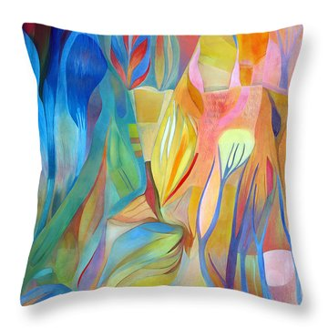 Throw Pillow featuring the painting Whispers Of Immortality 3 by Linda Cull