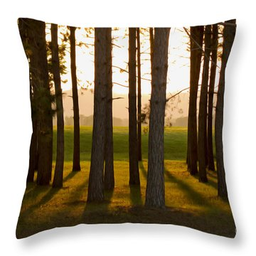 Whispers Of The Trees Throw Pillow by Inspired Arts