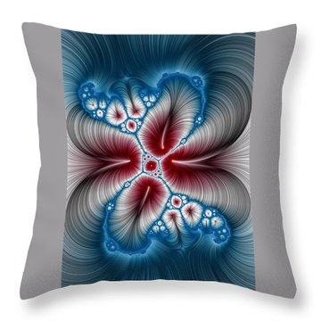 Whispers Phone Case Throw Pillow by Lea Wiggins