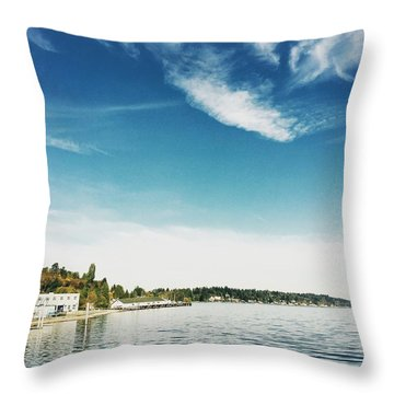 Whispy Northwest Days Throw Pillow