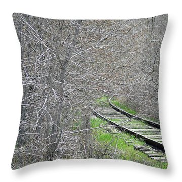 Throw Pillow featuring the photograph Whistle Stopped by Juls Adams