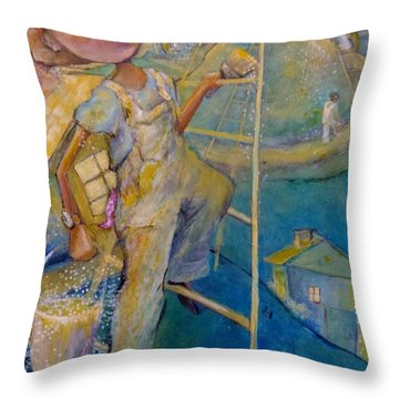 Whistle While You Work Throw Pillow by Eleatta Diver