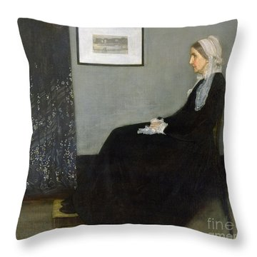 Whistlers Mother Throw Pillow