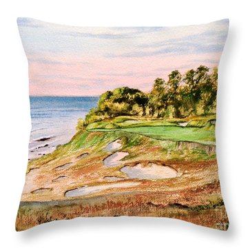 Whistling Straits Golf Course 17th Hole Throw Pillow