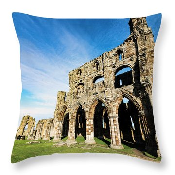 Throw Pillow featuring the photograph Whitby Abbey by Anthony Baatz
