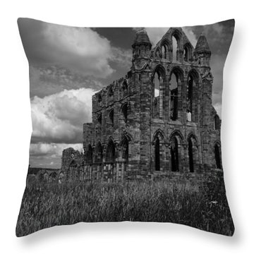 Whitby Abbey, North York Moors Throw Pillow