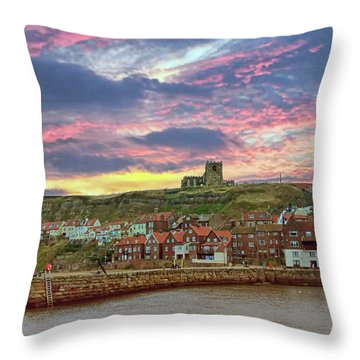 Whitby Abbey Uk Throw Pillow