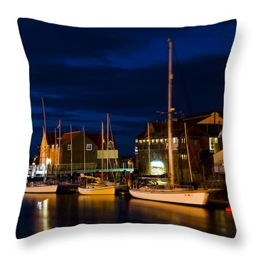 Whitby Harbour Throw Pillow by Svetlana Sewell