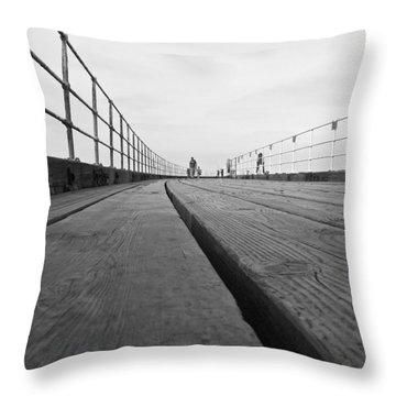 Whitby Pier Throw Pillow by Svetlana Sewell