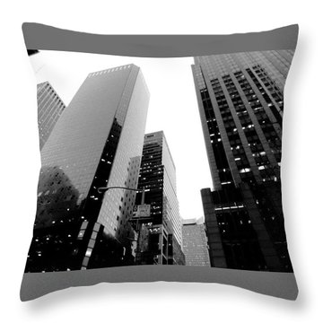 White And Black Inspiration  Throw Pillow