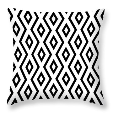 White And Black Pattern Throw Pillow