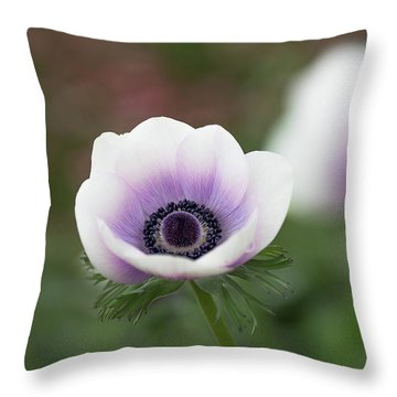 Throw Pillow featuring the photograph White And Purple by Rebecca Cozart