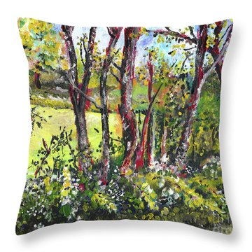 White And Yellow - An Unusual View Throw Pillow