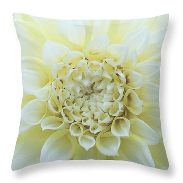 White Angel Throw Pillow by Don Mennig