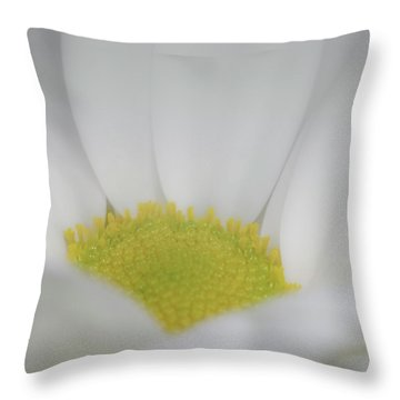 White Angel Throw Pillow by Roy McPeak