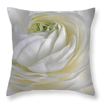 White As Snow Throw Pillow