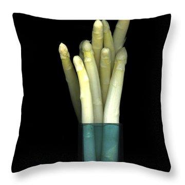 White Asparugus Throw Pillow