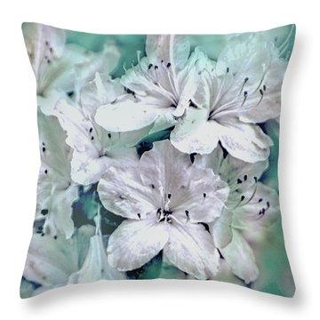 White Azaleas Throw Pillow
