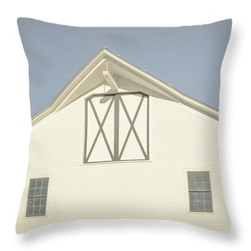 White Barn South Woodstock Vermont Throw Pillow by Edward Fielding