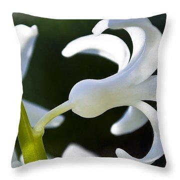 White Bell Throw Pillow by Svetlana Sewell