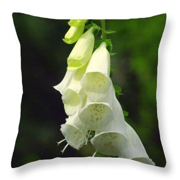 White Bells Throw Pillow by Marty Koch