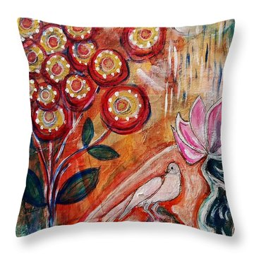 White Bird Throw Pillow by Mimulux patricia no No