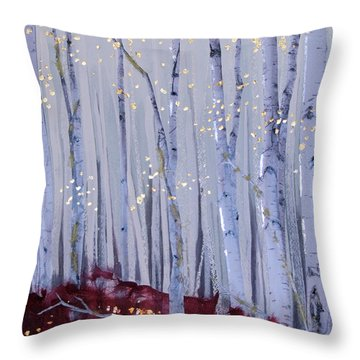 White Bird Throw Pillow by Stanza Widen